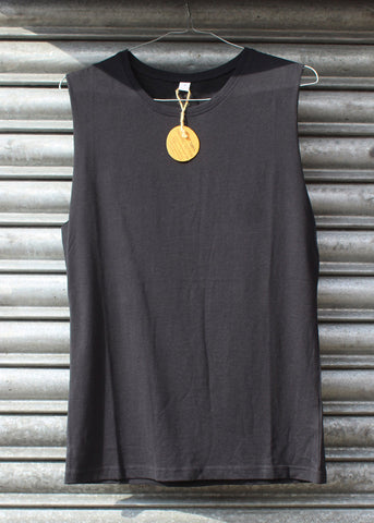 Black Plain Tank Top