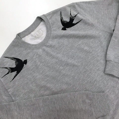 Swallow Sweater Grey New
