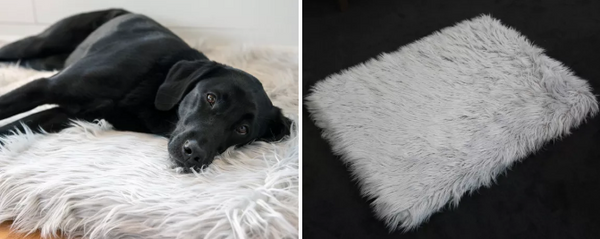 PupRug Faux Fur Memory Foam Bed