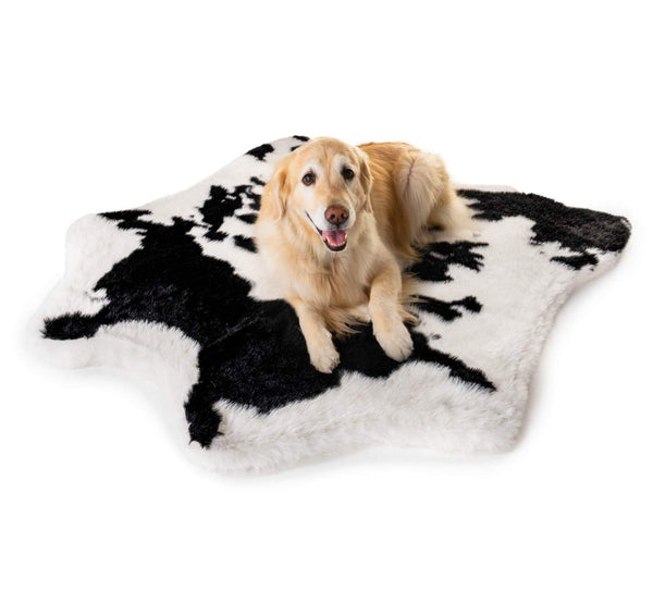 Black Faux Cowhide Memory Foam Dog Bed Puprug Paw Com