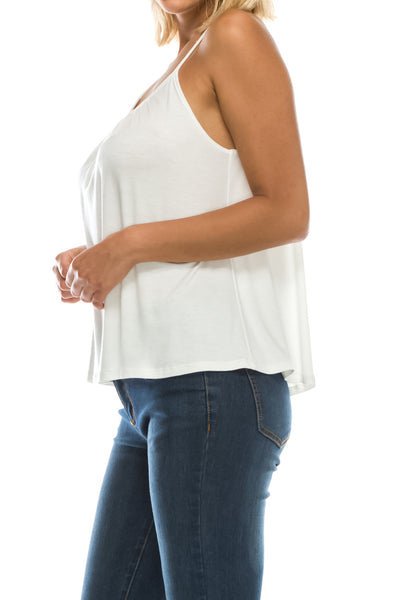 [Plus Size] Solid Pleated Front Flowy Cami (13 Colors)