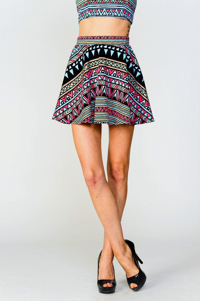Play Neon Flare Mini Skirt