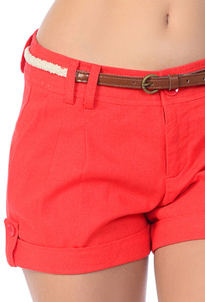 Side Button Detailed Linen Cargo Shorts (5 Colors)