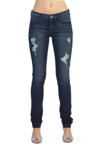 Angry Rabbit Long Slim Fitted Faded Ripped Premium Jeans