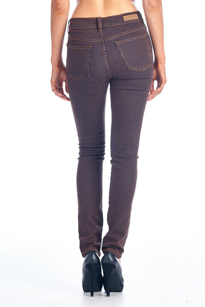 Angry Rabbit Striped Mid Rise Skinny Jeans