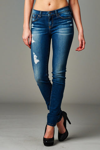 Angry Rabbit Distressed Skinny Premium Designer's Denim Jeans