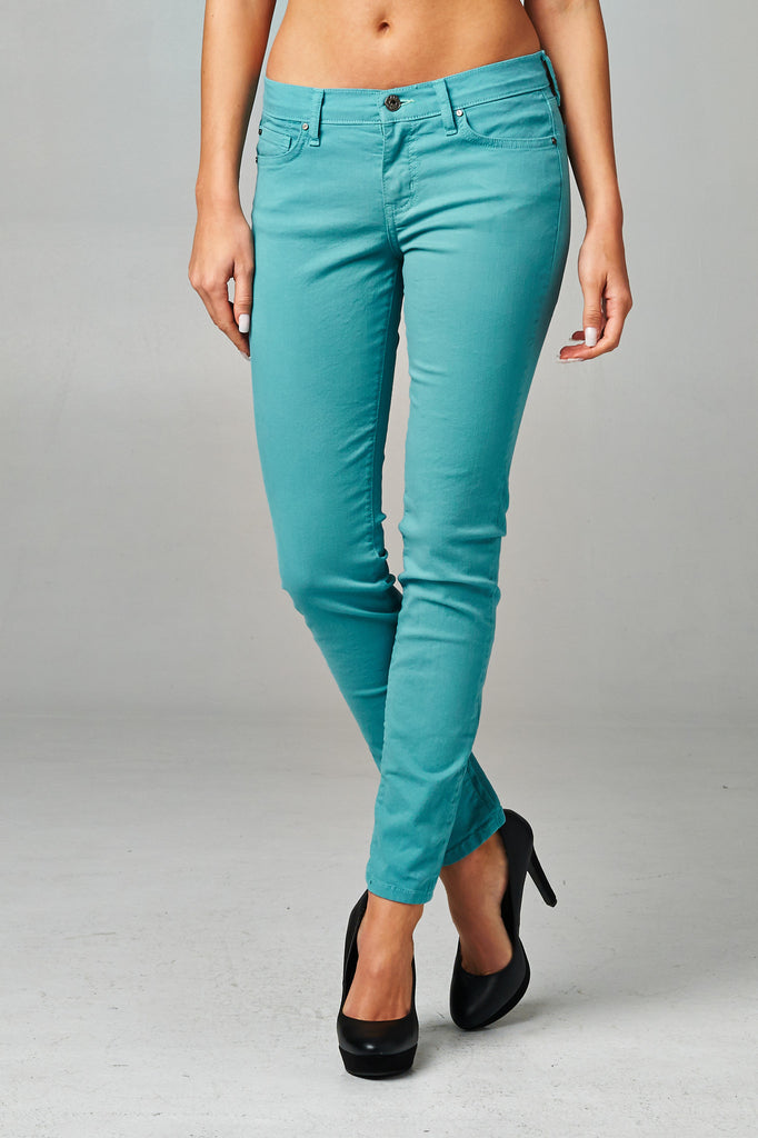 Angry Rabbit Colored Skinny Ankle Jeans