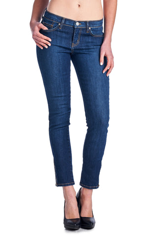 Angry Rabbit Bottom Zipper Detail Ankle Jeans