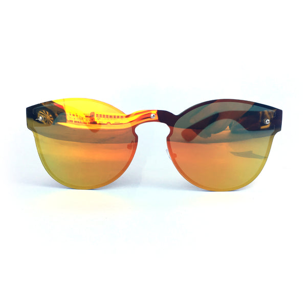 Rimless Retro Multi Shade Sunglasses
