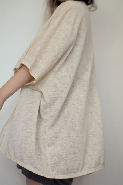 Beige Light weight Wide Sleeve Knit Cardigan