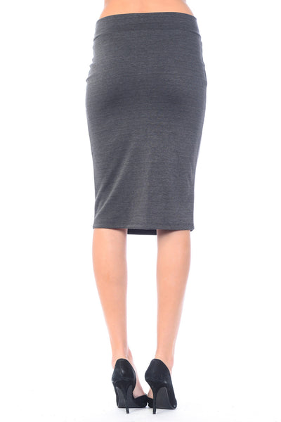 [Plus Size] Anywhere Anytime Midi Pencil Skirt