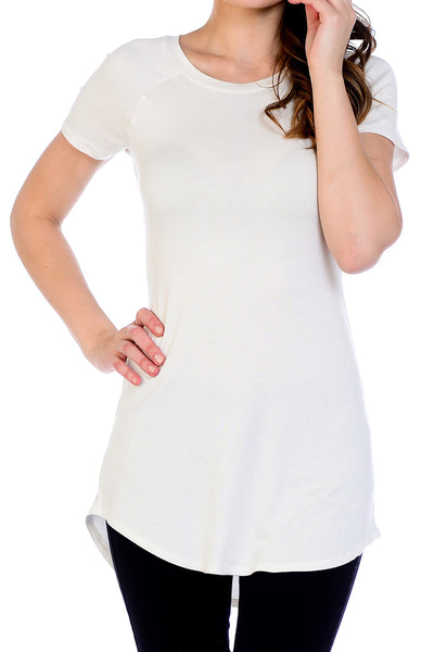 Scoop Neck Shirttail Tunic Top