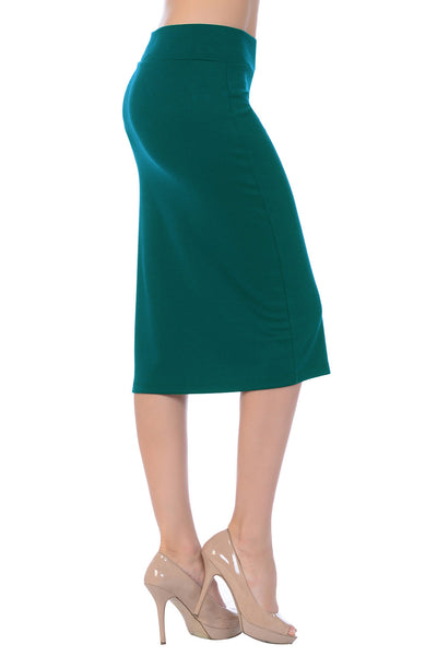 Anywhere Anytime Midi Pencil Skirt