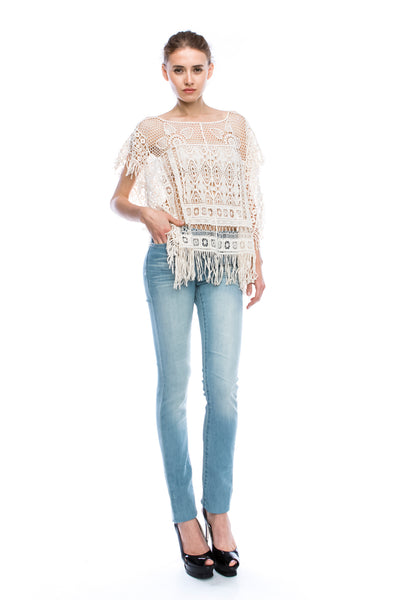 Sera Crochet Cover Up Crop Top