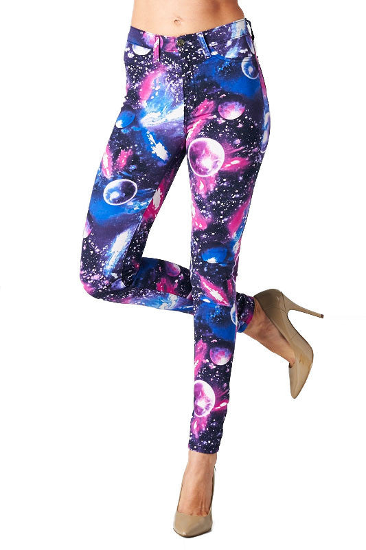 Angry Rabbit Galaxy Printed Skinny Jeans