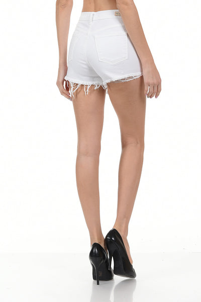Angry Rabbit Raw Edge High Rise Shorts Jeans (3 colors)