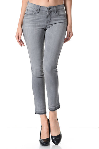 Angry Rabbit Open Hem Cropped Jeans