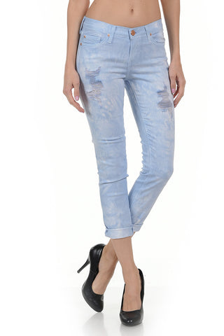 Angry Rabbit Tie Dye Cropped Jeans