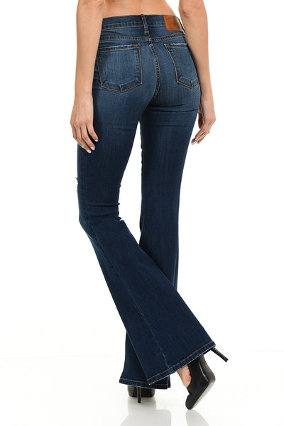 Angry Rabbit Basic Destroyed Flare Jeans