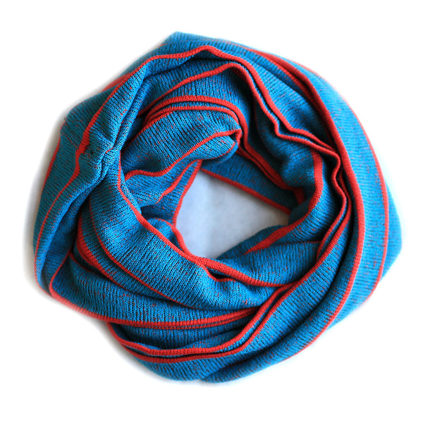 Color Striped Infinity Scarf Shawl Muffler Wrap