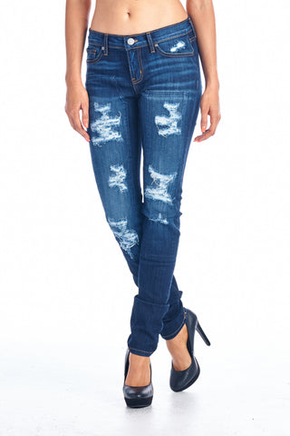Angry Rabbit Patch Work Destroyed SkinnyPremium Jeans
