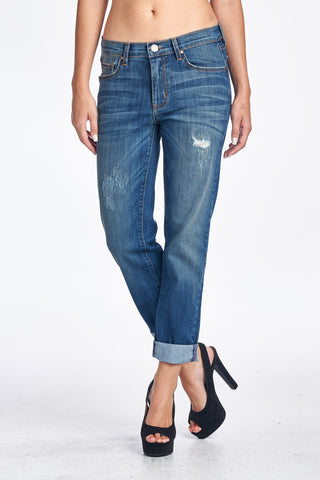 Angry Rabbit Vintage Wash Boyfriend Jeans