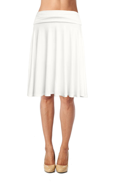 Flowy Mid Length Skirt - Ivory