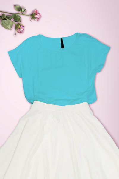 Connected Sleeve Blouse - Aqua