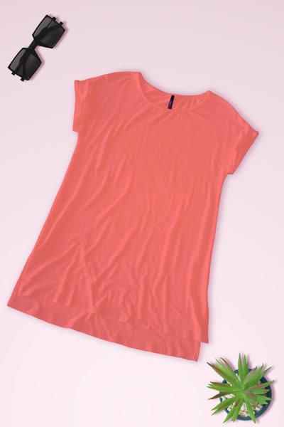 Connected Sleeve Blouse - Coral