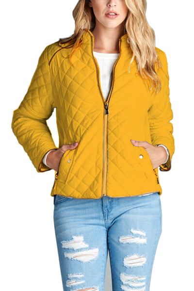 Quilted Lightweight Ski Winter Active Long Sleeve Jumper Jacket