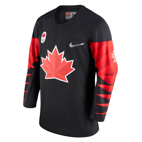 Team Canada IIHF 2018 Olympic Replica Black Alternate Jersey – OOB ... 6b21af4bee7