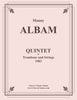 Albam - Quintet for Trombone and Strings - Cherry Classics Music
