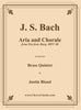 Bach - Aria and Chorale from Ein feste Burg Cantata BWV 80 for Brass Quintet - Cherry Classics Music