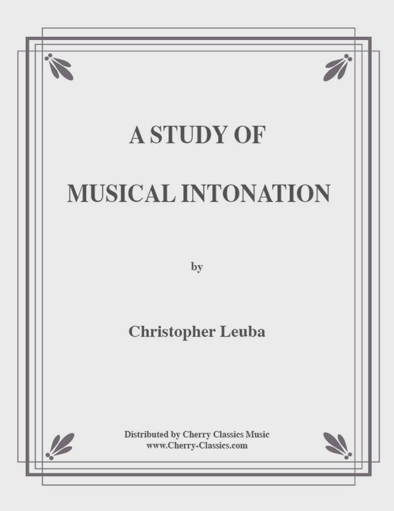 Leuba - Study In Musical Intonation for Brass - Cherry Classics Music