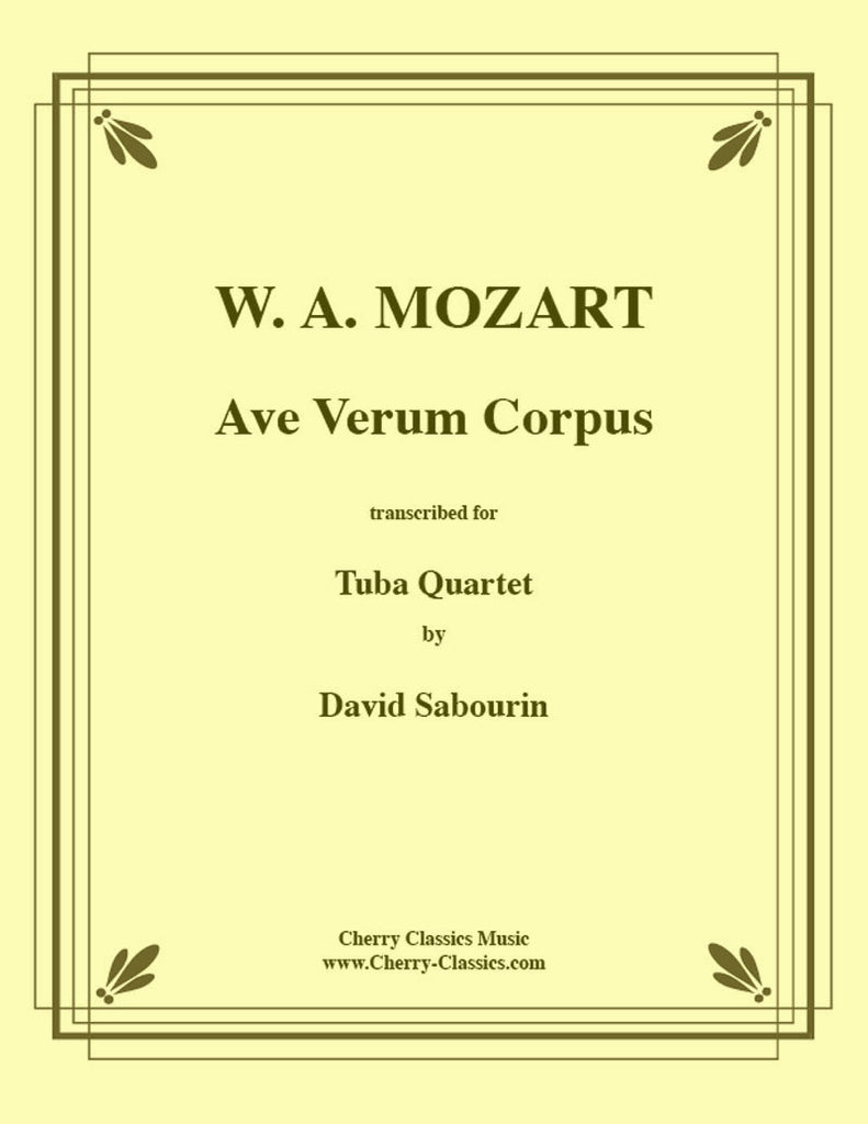 Mozart - Ave Verum for Tuba Quartet