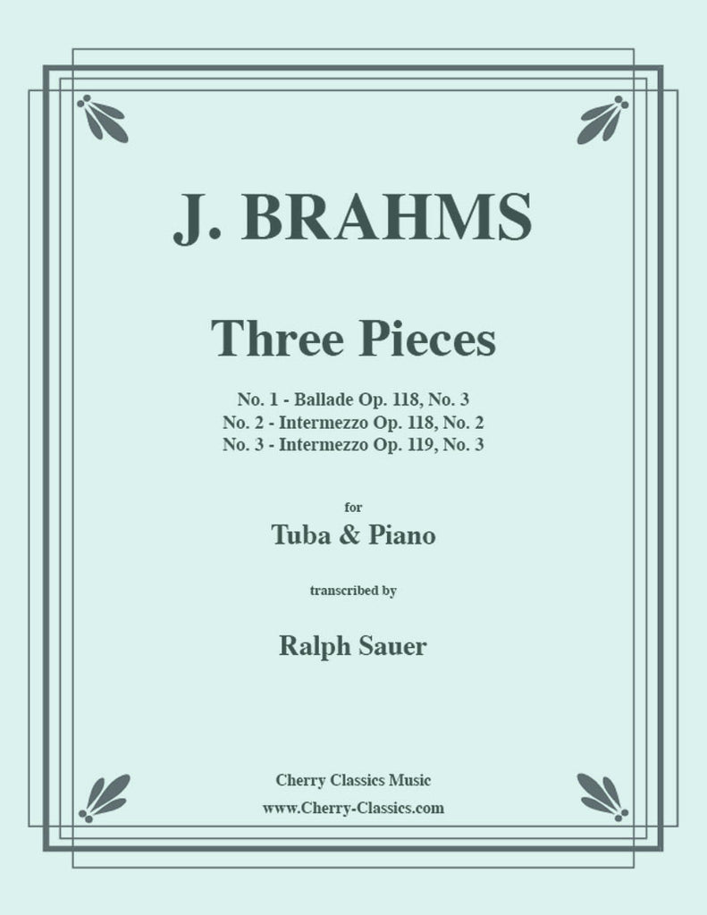 Brahms - Three Pieces for Tuba or Bass Trombone and Piano - Cherry Classics Music
