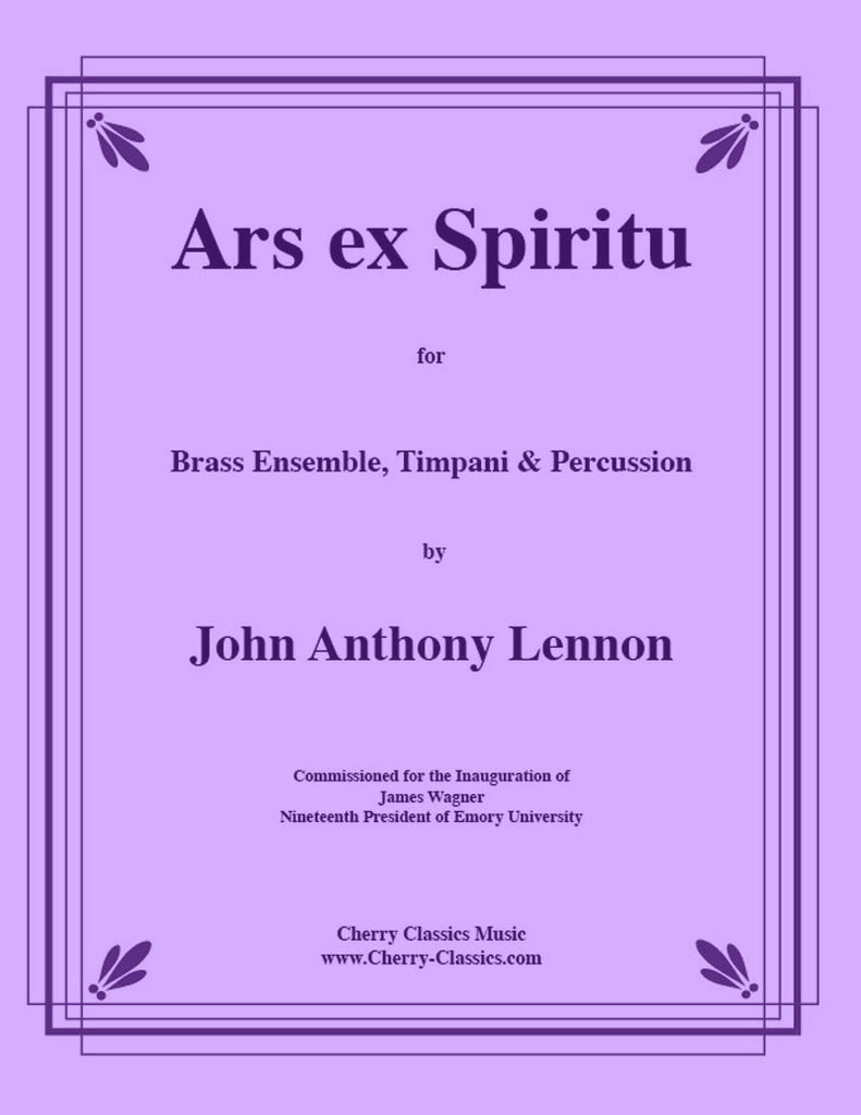 Lennon - Ars ex Spiritu for large Brass Ensemble and Percussion - Cherry Classics Music