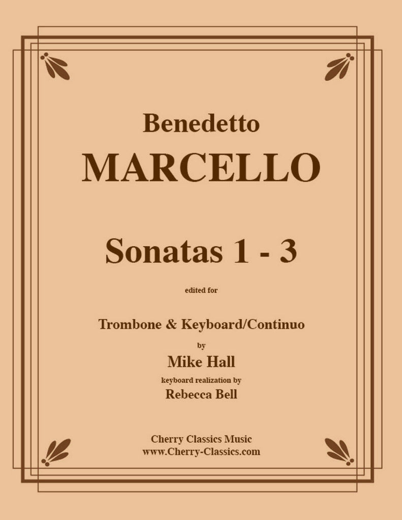 Marcello - Sonatas 1-3 for Trombone and Continuo Critical Edition - Cherry Classics Music