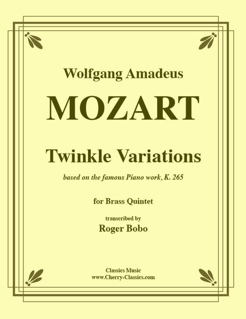 Mozart - Twinkle Variations for Brass Quintet - Cherry Classics Music