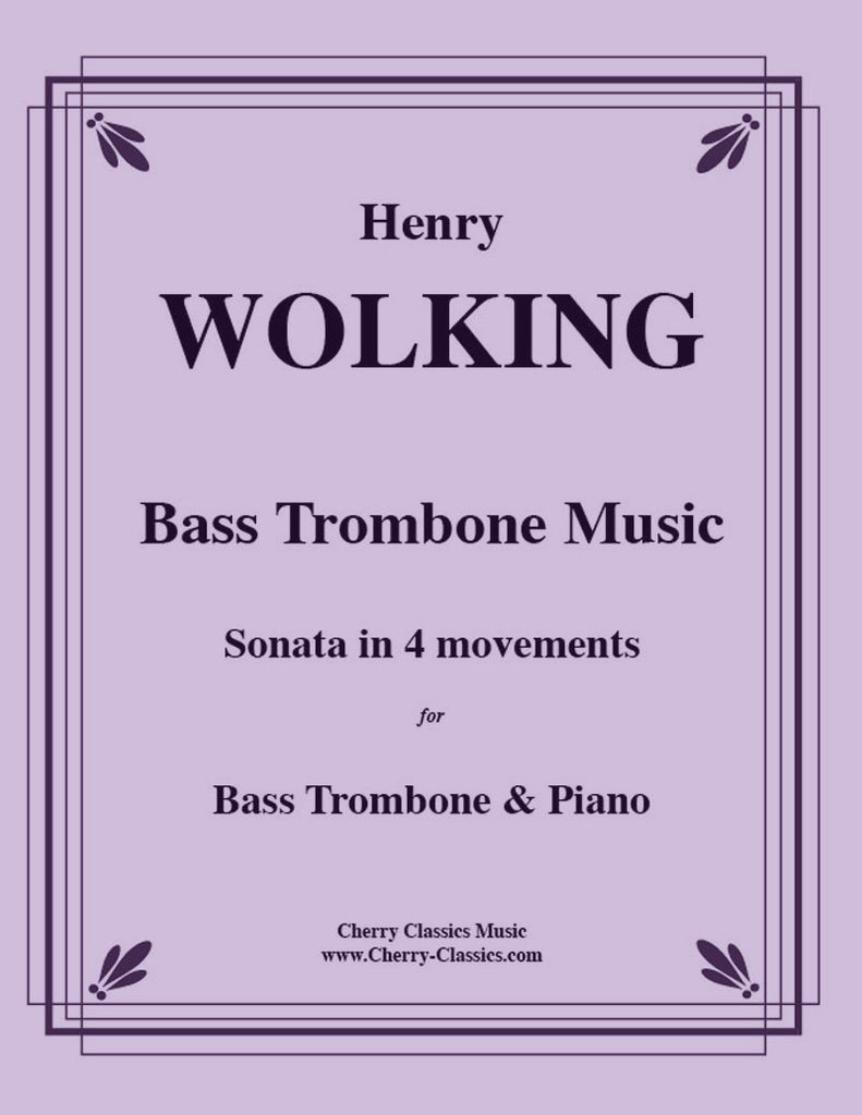 Wolking - Music for Bass Trombone and Piano - Cherry Classics Music