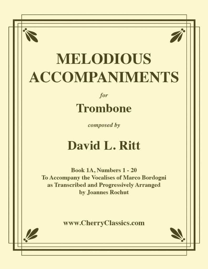 Bordogni - Melodious Accompaniments for Trombone or Euphonium with CD-Rom - Volume 1A (1-20) - Cherry Classics Music