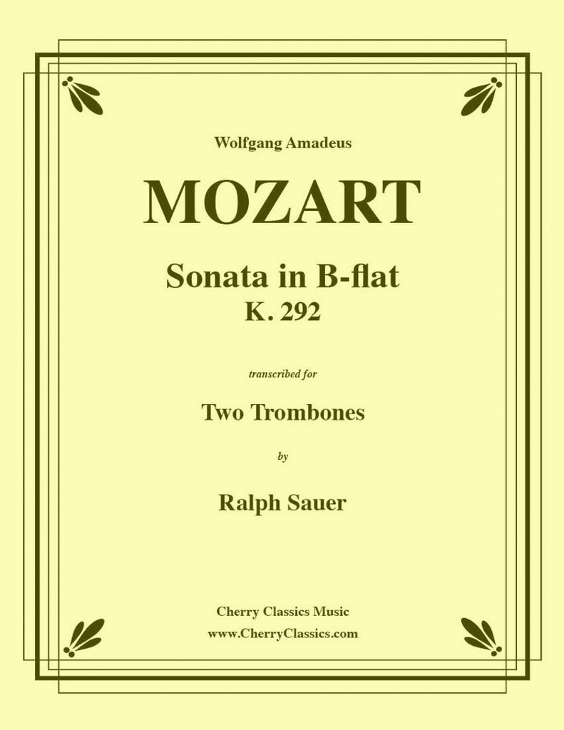 Mozart - Sonata in B-flat K. 292 for Trombone Duet - Cherry Classics Music