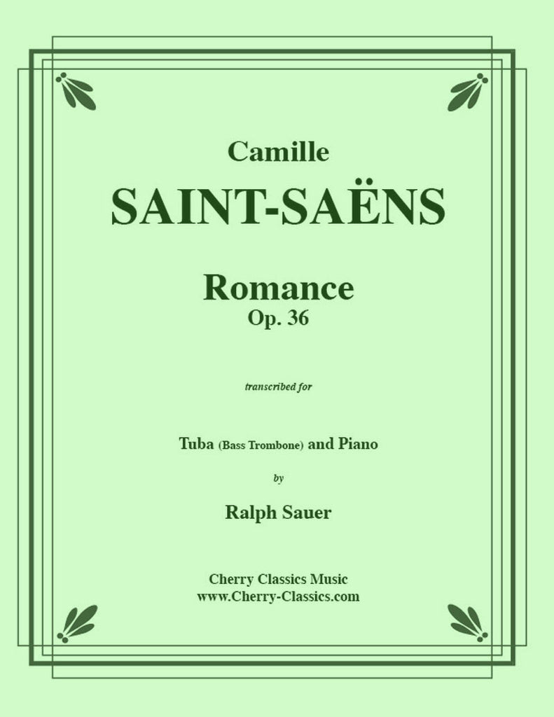 Saint Saens - Romance, Opus 36 for Tuba or Bass Trombone and Piano - Cherry Classics Music