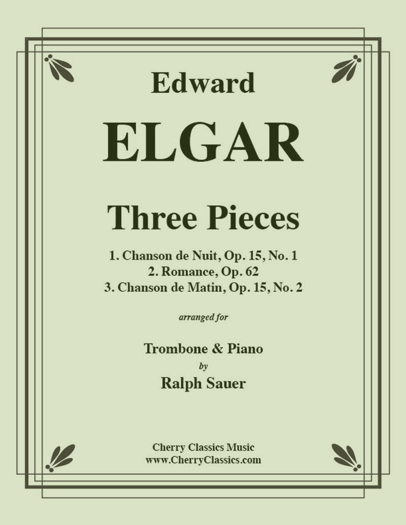 Elgar - Three Pieces for Trombone and Piano - Cherry Classics Music