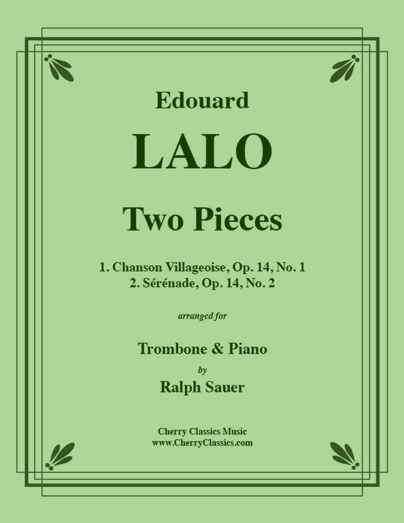 Lalo - Two Pieces for Trombone and Piano - Cherry Classics Music