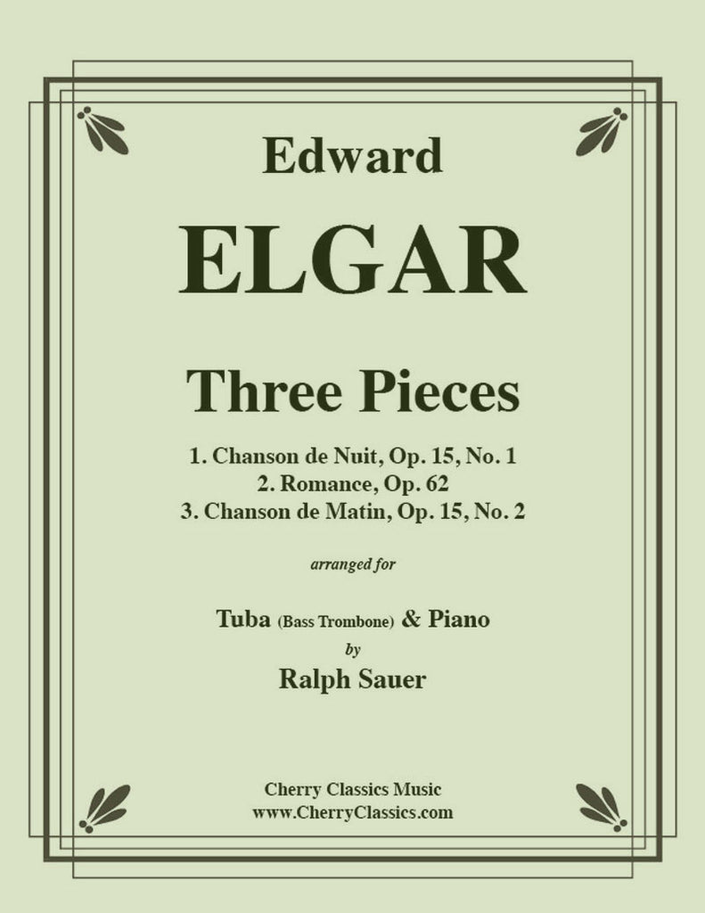 Elgar - Three Pieces for Tuba or Bass Trombone and Piano - Cherry Classics Music