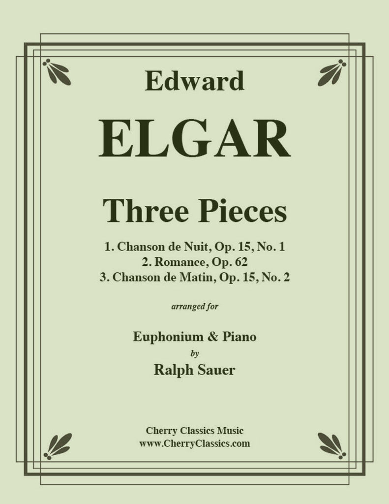 Elgar - Three Pieces for Euphonium and Piano - Cherry Classics Music