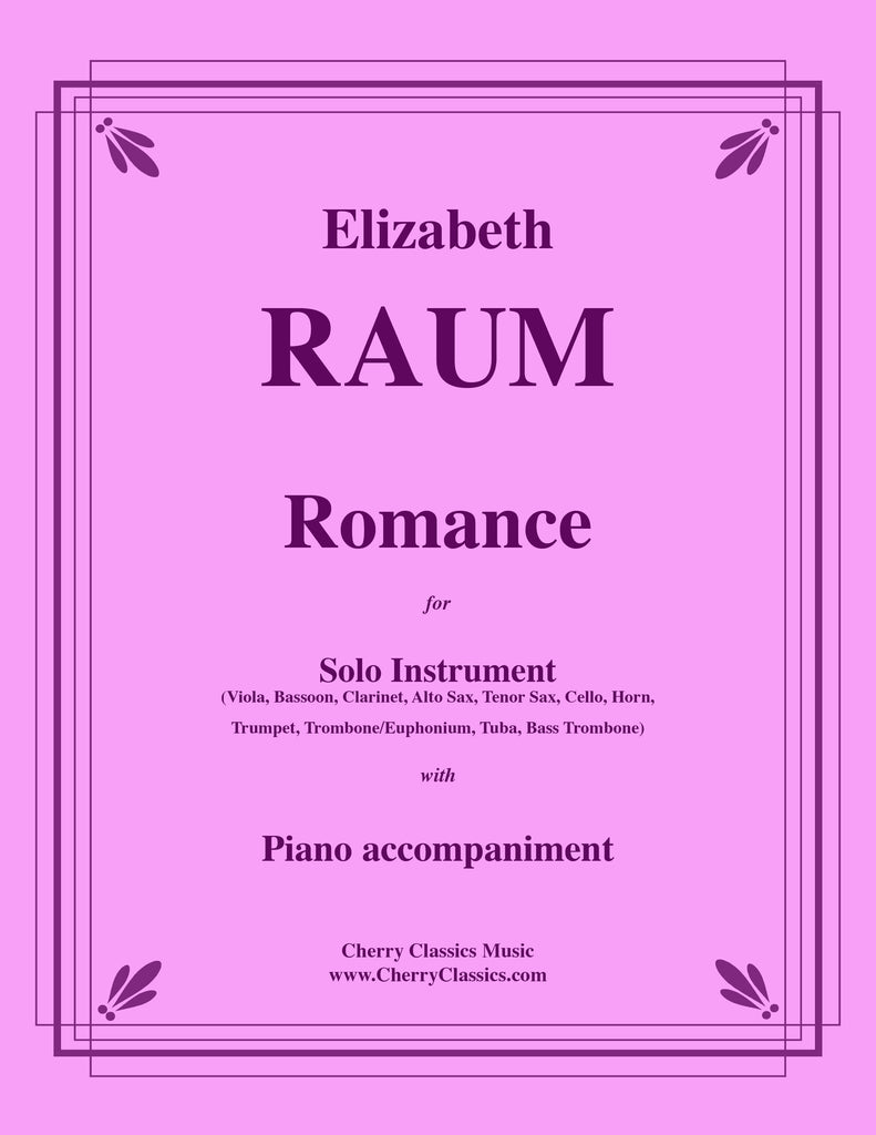 Raum - Romance for Solo Instrument with Piano Accompaniment - Cherry Classics Music