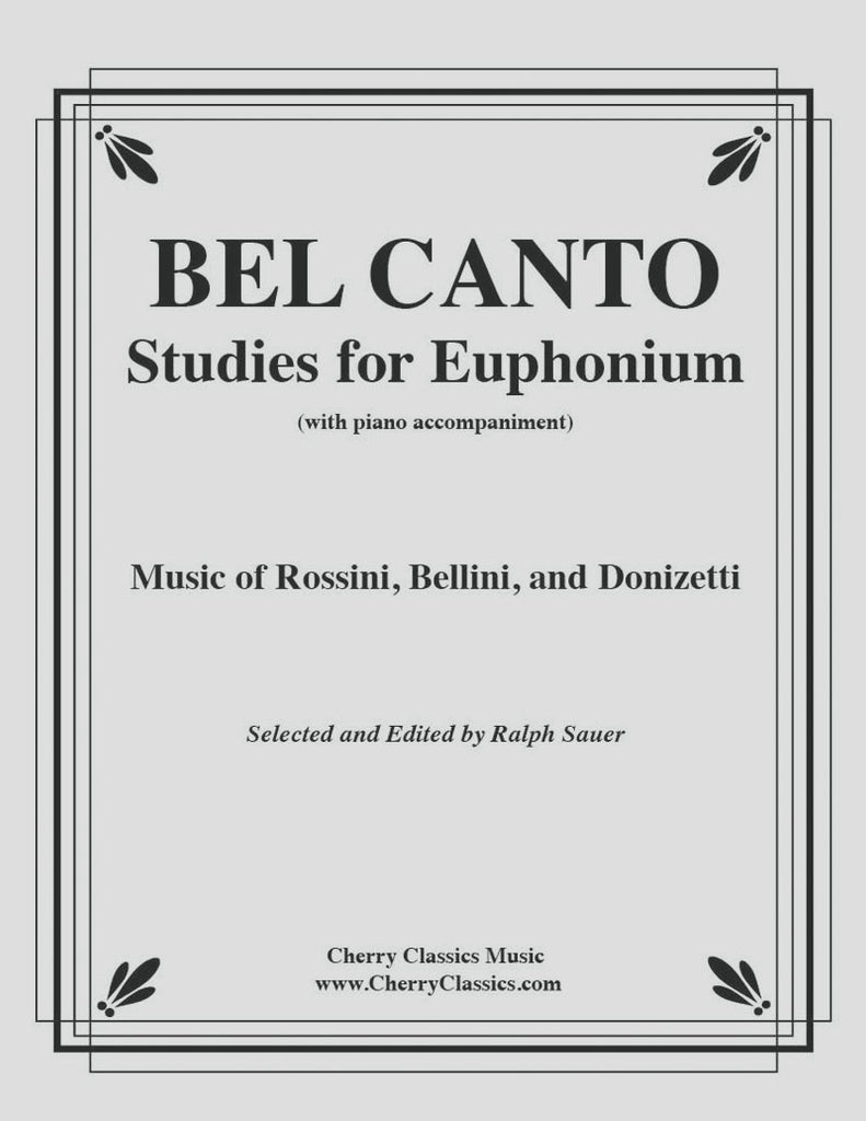 Various - Thirteen Bel Canto Studies for Euphonium with Piano accompaniment - Cherry Classics Music
