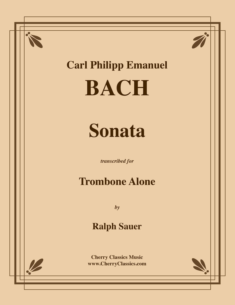 BachCPE - Sonata for Trombone Alone - Cherry Classics Music